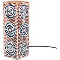 Home Tischlampen Signes Grimalt Rechteckige Mosaiklampe Multicolor