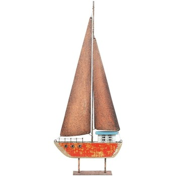 Home Statuetten und Figuren Signes Grimalt Segelboot Aus Recyceltem Holz Rojo