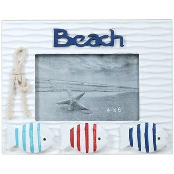 Home Bilderrahmen Signes Grimalt Rahmen Foto Strand Mit Fisch Multicolor