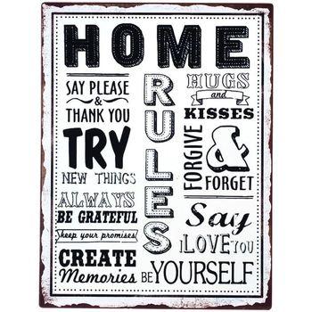 Home Gemälde, Leinwände Signes Grimalt Startseite Wandteller Multicolor