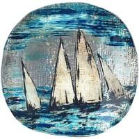 Home Schlüsselablage Signes Grimalt Runde Schale Boot Azul