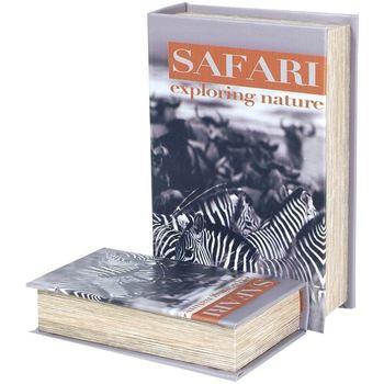 Home Koffer, Aufbewahrungsboxen Signes Grimalt Safari Zebra 2U Buchboxen Multicolor