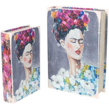 Home Koffer, Aufbewahrungsboxen Signes Grimalt Frida Bücherboxen Set 2U Multicolor