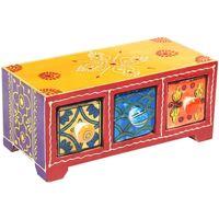 Home Koffer, Aufbewahrungsboxen Signes Grimalt Gewürzregal 3 Schubladen Multicolor