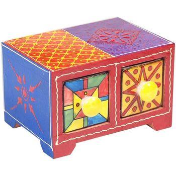 Home Koffer, Aufbewahrungsboxen Signes Grimalt Gewürzregal 2 Schubladen Multicolor