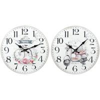 Home Uhren Signes Grimalt 2 Verschiedene 2U Wanduhr Blanco