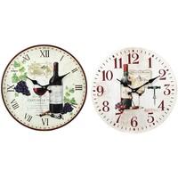 Home Uhren Signes Grimalt Wein Uhr 2 Verschiedene 2U Multicolor