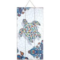 Home Gemälde, Leinwände Signes Grimalt Wandplatte Schildkröte Multicolor