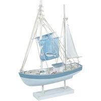 Home Statuetten und Figuren Signes Grimalt Segelboot Mit Fisch Azul