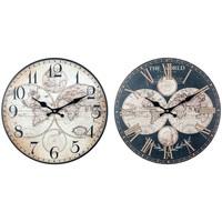 Home Uhren Signes Grimalt Welt-Wanduhr Set 2U Negro
