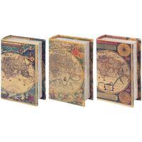 Home Koffer, Aufbewahrungsboxen Signes Grimalt Buchen 3 Dif-Boxen. Welt Multicolor