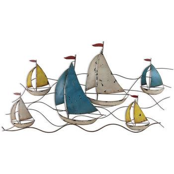 Home Statuetten und Figuren Signes Grimalt Wandverzierung Boote Multicolor