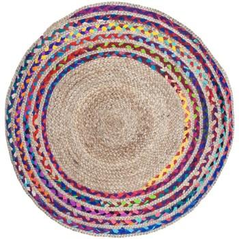 Home Teppiche Signes Grimalt Jutegeflochtener Teppich Multicolor