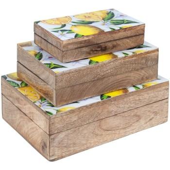Home Koffer, Aufbewahrungsboxen Signes Grimalt 3. September Boxes Zitronen Marrón