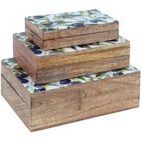 Home Koffer, Aufbewahrungsboxen Signes Grimalt 3. September Boxes Oliven Marrón