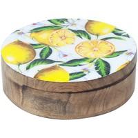 Home Koffer, Aufbewahrungsboxen Signes Grimalt Runde Box Zitronen Multicolor