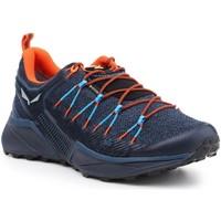 Schuhe Herren Wanderschuhe Salewa Trekkingschuhe  MS Dropline GTX 61366-8669 dunkelblau, orange, schwarz