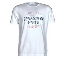 Kleidung Herren T-Shirts Lee SS POSTER TEE Weiss