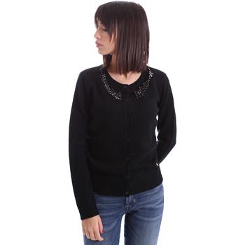 Kleidung Damen Strickjacken Animagemella 17AI060 Schwarz