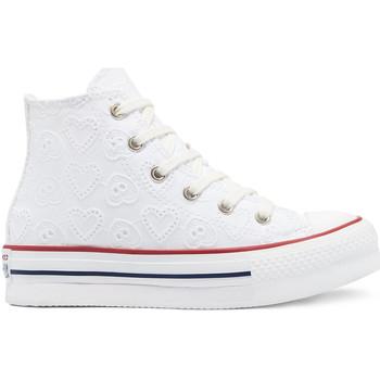Schuhe Kinder Sneaker High Converse 671104C Weiß