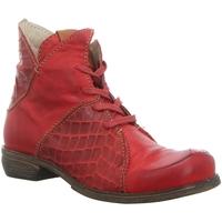 Schuhe Damen Boots Rovers Stiefeletten 55004 VINO/VINO rot