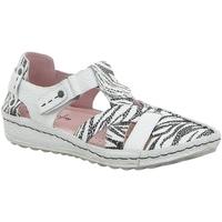 Schuhe Damen Slipper Maciejka Sandaletten 01403-11/00-5 weiß