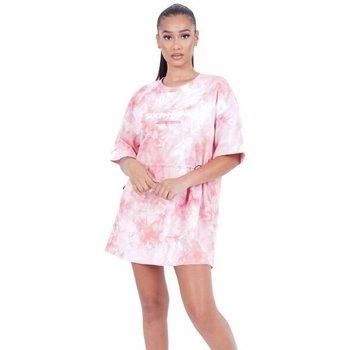 Kleidung Damen Kurze Kleider Sixth June Robe femme  Tie and dye rose
