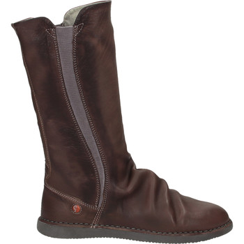 Schuhe Damen Klassische Stiefel Softinos Stiefel Dunkelbraun