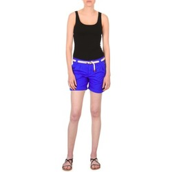Kleidung Damen Shorts / Bermudas Franklin & Marshall CALOUNDRA Blau