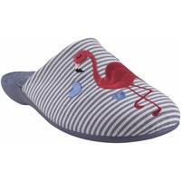 Schuhe Damen Hausschuhe Garzon Geh nach Hause Frau  7351.161 blau Rot