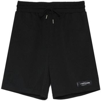 Kleidung Herren Shorts / Bermudas Sixth June Short  Mesh Logo noir