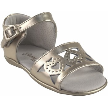 Schuhe Mädchen Sandalen / Sandaletten Bubble Bobble Mädchenschuh  a2956 gold Silbern
