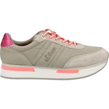 Schuhe Damen Sneaker Low S.Oliver Sneaker Hellgrau