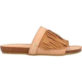 Schuhe Damen Pantoletten / Clogs Fred de la Bretoniere Pantoletten Hellbraun