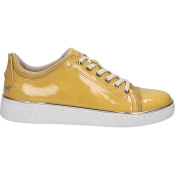 Schuhe Damen Sneaker Low Mustang Sneaker Gelb