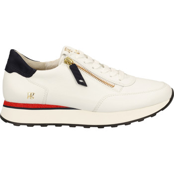 Schuhe Damen Sneaker Low Paul Green Sneaker Weiß/Blau