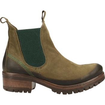 Schuhe Damen Boots Lazamani Stiefelette Braun/Grün