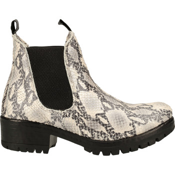 Schuhe Damen Boots Lazamani Stiefelette Grau/Weiß