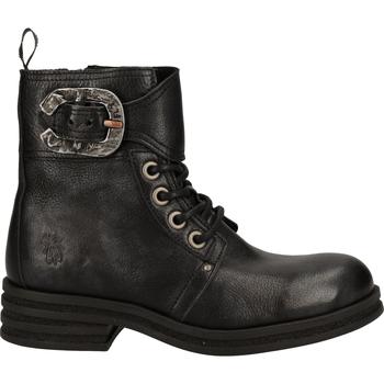 Schuhe Damen Boots Fly London Stiefelette Schwarz/Silber