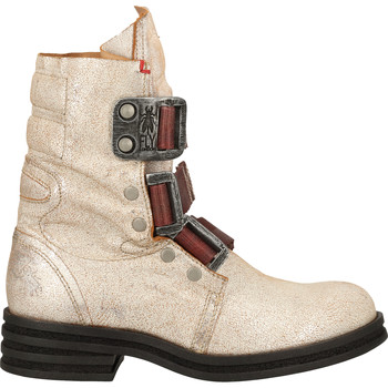Schuhe Damen Boots Fly London Stiefelette Weiß