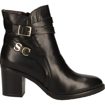 Schuhe Damen Boots Scapa Stiefelette Schwarz