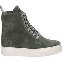 Schuhe Damen Boots Sansibar Stiefelette Dunkelgrau