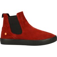 Schuhe Damen Boots Softinos Stiefelette Red