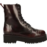 Schuhe Damen Boots Buffalo Stiefelette Patent Bordeaux
