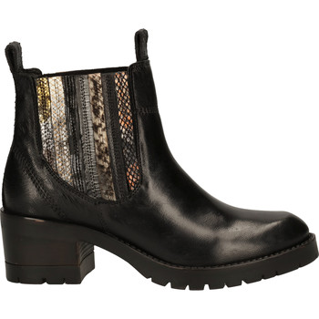 Schuhe Damen Boots Lazamani Stiefelette Schwarz