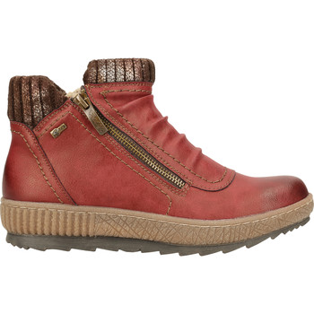 Schuhe Damen Boots Relife Stiefelette Rot