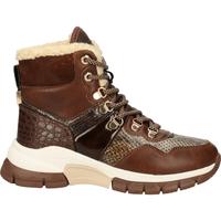 Schuhe Damen Boots Mexx Stiefelette Mittelbraun
