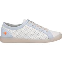 Schuhe Damen Sneaker Low Softinos Sneaker Weiß/Blau