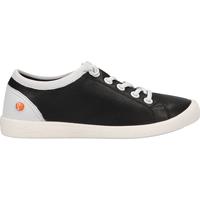 Schuhe Damen Sneaker Low Softinos Sneaker Schwarz/Weiß