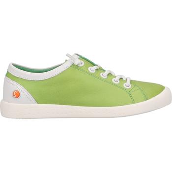 Schuhe Damen Sneaker Low Softinos Sneaker Grün/Weiß